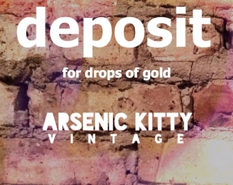 deposit for drops of gold dress
