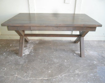 Desk custom made from reclaimed wood in the USA