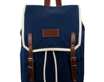Charlee Levanto Backpack. Mediterranean Inspired. Nautical bag . Men's Backpack