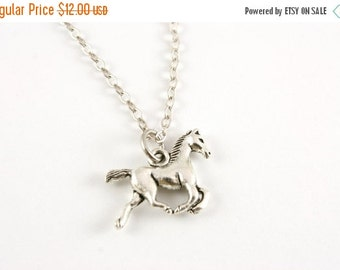 SALE 20% OFF Tiny Pony Necklace, Horse Jewelry, Under 15, Gift for Her