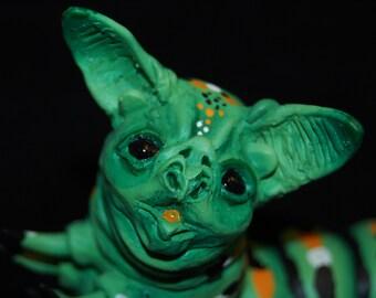 Green Resin Baterpillar