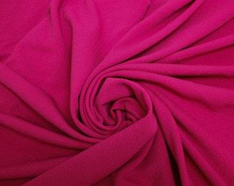 Hot Pink Crepe Techno Knit Fabric - 1 Yard Style 481