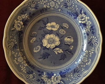 English Country Spode Blue Room Botanical plate