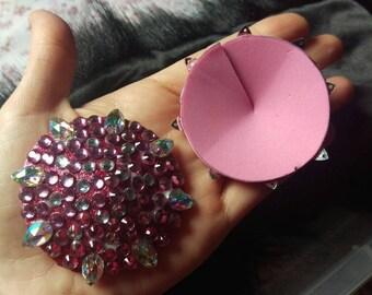 Pink sparkly burlesque pasties!