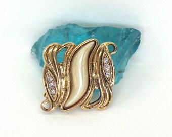 On SALE  Elegant Gold Pin Rhinestone Gold Pin Pearl Gold Pin Leaf Gold Pin