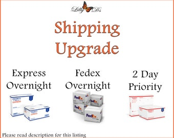 Upgrade your order to USPS Prioity or Express Mail or FEDEX Overnight - Lilly D's Craft Supplies