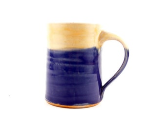 Large mug in soft purple and butter yellow