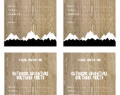 Scandi Outdoor Adventure Party Invitations + thank you cards (Printables)