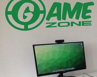 Game Zone Achievement Unlocked Wall Art Vinyl Decal Door Sticker xbox Gamer G4