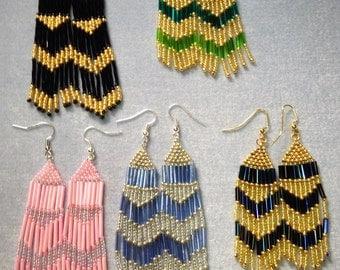 Fringed Fishhook Earrings