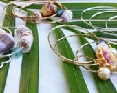 Gold Shell Bangles CUSTOM 14k Gold Filled Choose your own shell Beach  Bangle