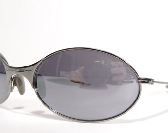 Vtg Oakley USA T Wire Titanium Mirror Sunglasses