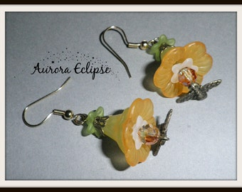 Flower Garden Earrings 'Tammie'. Gifts for her. Holiday gift.