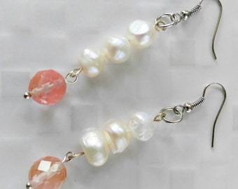 Pink Passion drop earrings