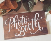 Photo Booth Sign, Rustic Wedding Sign, Grab a Prop Sign | 10x5.5