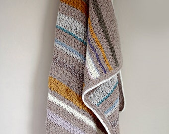 Knitted multicolor baby blanket