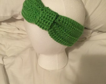 Lime Green Knotted Headband
