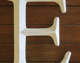 ON SALE TODAY Letter E/ Pick Your Own Letter/ Wall Letter/ /Distressed Antique White/ Wall Decor/Mantle Decor