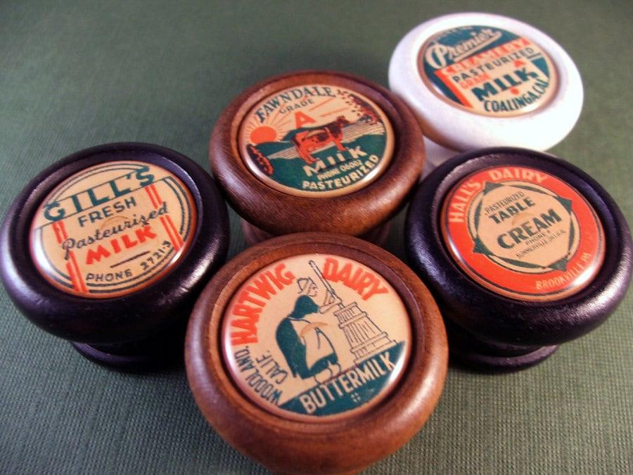 Green Orange Milk Bottle Cap Decorative Knobs Price Is