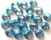 144 Pcs., 1440 Pcs. or 14,400 Pcs./ AB Aquamarine SS16 Hot Fix (Hotfix) Flat Back Crystal Rhinestones -  4mm