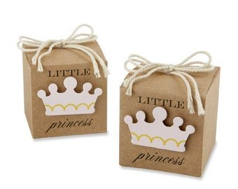 24 Little Princess Favor Boxes Baby Shower Favors Baby Girl Shower Favor Boxes