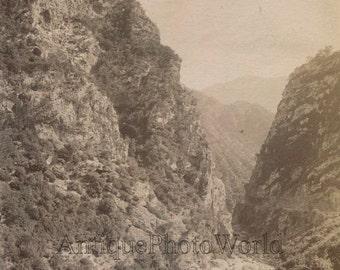 Chabed El Ahkra gorges Algeria landscape antique albumen photo