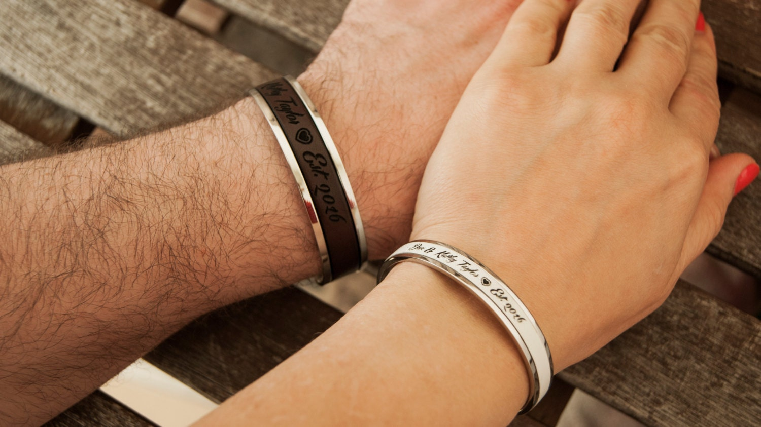 Personalized couples bracelets gift for couple by begenuine for Gift for anniversary for couple