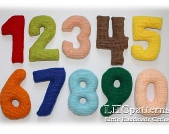 Crochet Numbers Pattern, 0-9 Numbers Crochet Pattern
