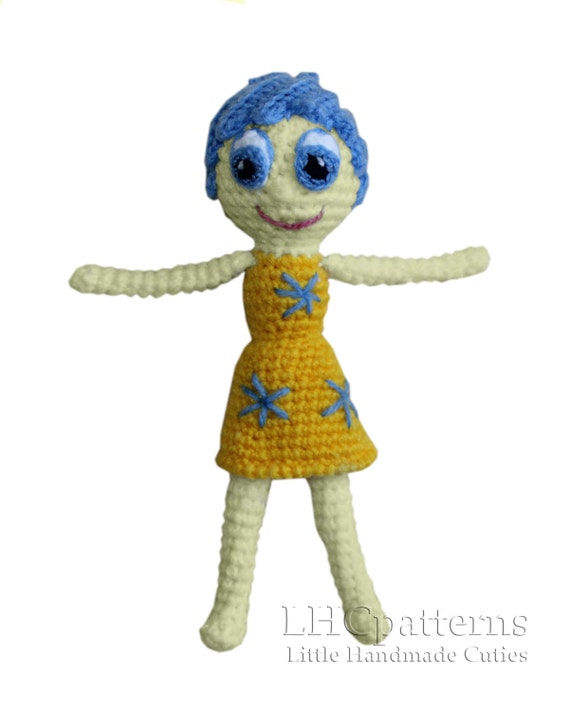 Inside Out Emotions Joy Sadness Disgust Anger Fear Crochet PDF Pattern From LHCpatterns On Etsy