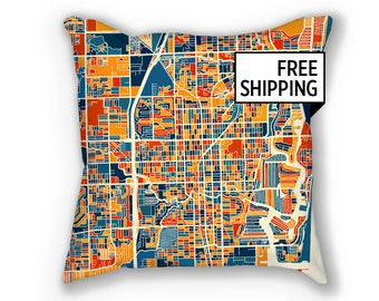 Fort Lauderdale Map Pillow - Fort Lauderdale Map Pillow 18x18