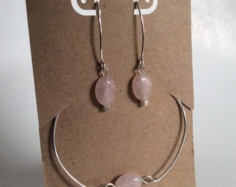 Sterling silver earring and bracelet set