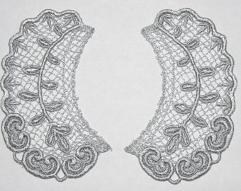 Lace Collar in PEWTER for 18 inch dolls such as American Girl #CR31