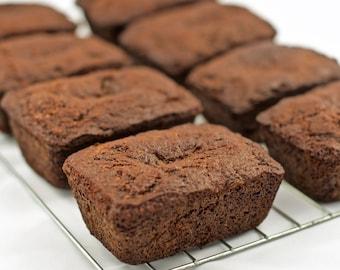 Paleo Cocoa-Zucchini Snack-Size Loaf (Gluten-Free)