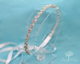 Crystal Bridal Headband - Flower Girl Headpiece- Bridal Headpiece - Prom Headband - Bridesmaid Headband - Wedding Accessory - Prom