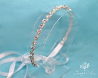 Crystal Bridal Headband - Wedding Headband - Flower Girl - Bridal Headpiece - Prom Headband - Bridesmaid Headband - Wedding Accessory - Prom