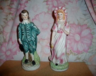 Vintage Pinkie Blue Boy Figurine Victorian Shabby Chic Taiwan Home Decor