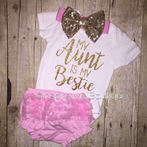 Baby Gift Aunt : My auntie is bestie aunt proud baby gift