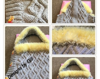 Hand Knitted Baby Cocoon