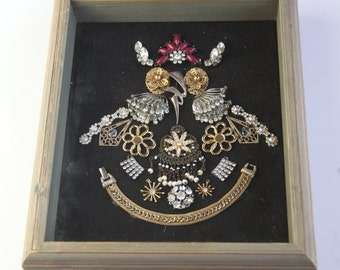 Owl Framed Jewelry Art