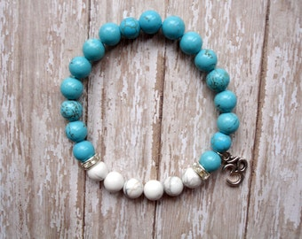 Anxiety Bead Bracelet, Mala Bead, Mala Bracelet, Stress Relief Turquoise Meditation Prayer Beads, Woman Gift, Teen Gift, Sweet 16 Birthday