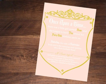 Fairy Tale Birthday Invitation