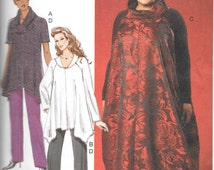 McCalls 7027, Misses/Womens Tunics, Jumper and Pants, New uncut sewing pattern size 18W-24W