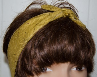 Mustard Dolly Bow/Hair Tie/Hair Wrap/Neck Scarf/ Hair Scarf Measures 31 inches by 2  inches Teen/Adult  Cotton * Double Stitched