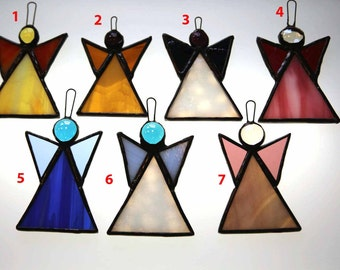 Stained Glass Angels Suncatcher/Ornament