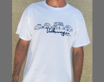 VW LineUp T-shirt - Exclusive Design, White