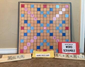 GIANT WORD SCRAMBLE board game
