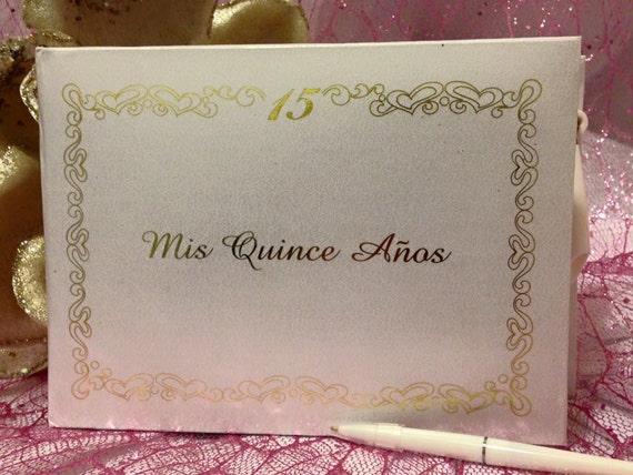 Mis 15 Anos Bracelet: Sweet 15 Mis Quince Anos Guest Book Libro De Firmas