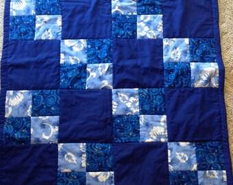 Blue Hawaii lap quilt