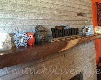 Custom Mantel- Live Edge Mantel- Hardwood Mantel- Wooden Mantel- Natural Edges- Fireplace Mantel- Hearth- Wood Beam- Mantle Shelf- Reclaimed