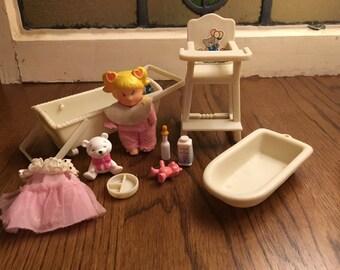 Vintage Sears Barbie Babysitting Set